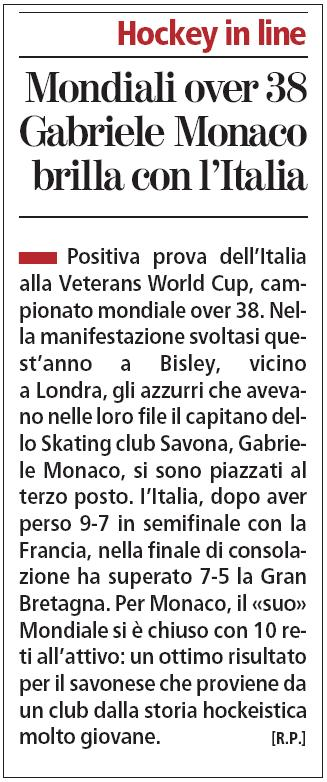 Mondiali over 38 Gabriele Monaco brilla con l'Italia